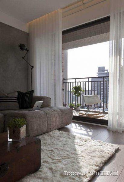 80平现代个性公寓_装修图片