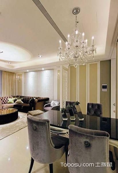 80平米欧式二居室设计效果图_装修图片