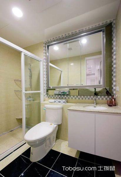 2019欧式卫生间装修图片 2019欧式浴室柜装修图片