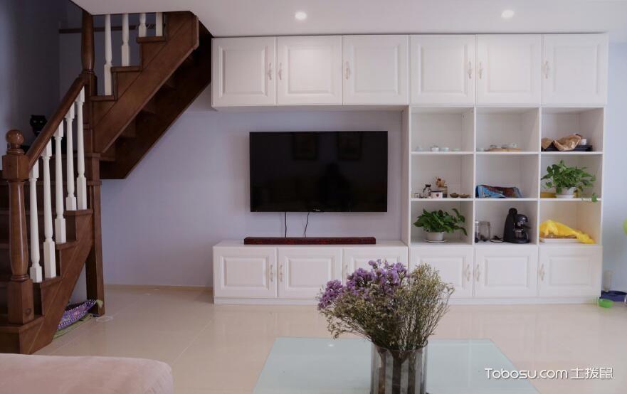 2019混搭客厅装修设计 2019混搭电视柜装修效果图片