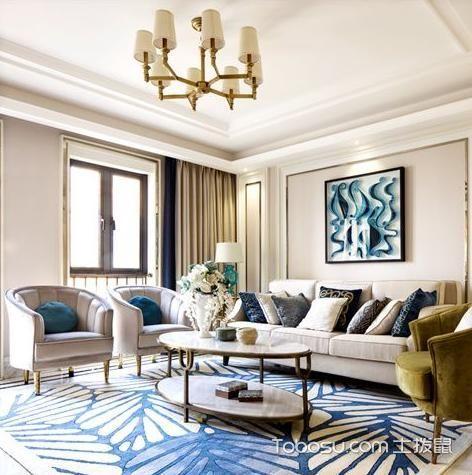 2019美式客厅装修设计 2019美式灯具图片