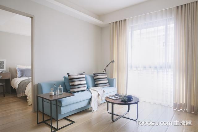 2019日式客厅装修设计 2019日式窗帘装修效果图片