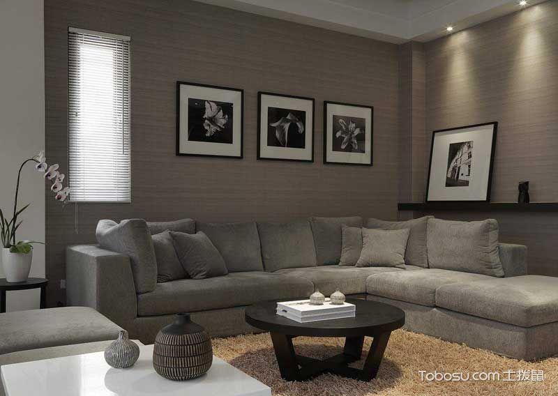 67平黑白简约二居装修设计_装修图片