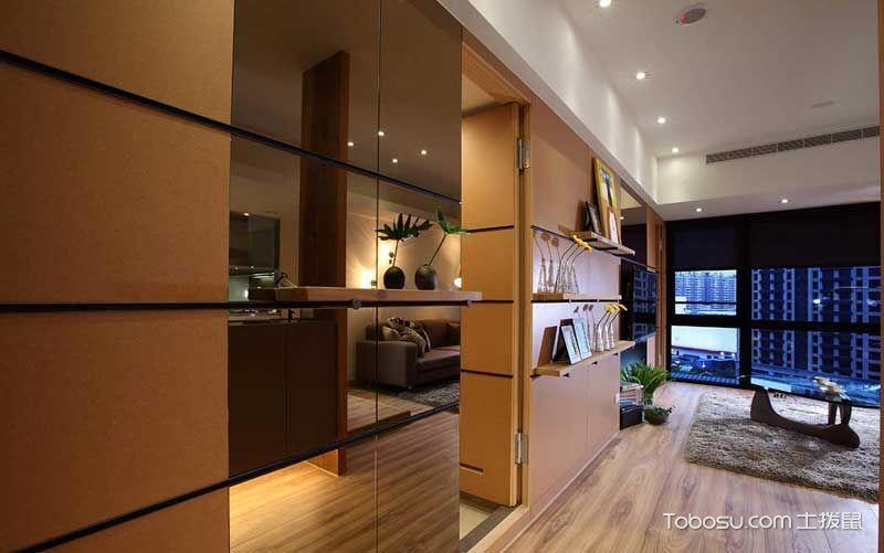 2021简约客厅装修设计 2021简约隐形门装修效果图片