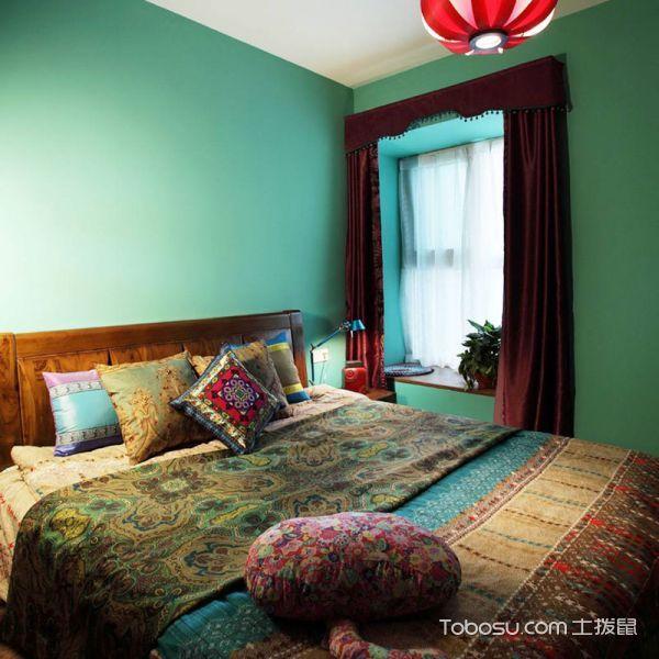 2020东南亚卧室装修设计图片 2020东南亚窗帘装修设计图片