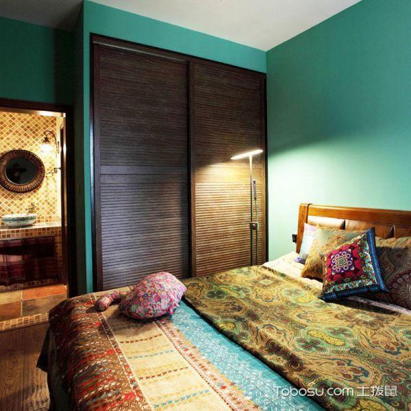 2020东南亚卧室装修设计图片 2020东南亚衣柜装修效果图片