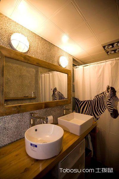 卫生间 洗漱台_混搭风格二居室70平米装潢效果图