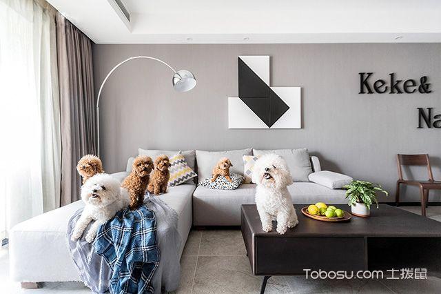 二居室76平米现代风格效果图图片