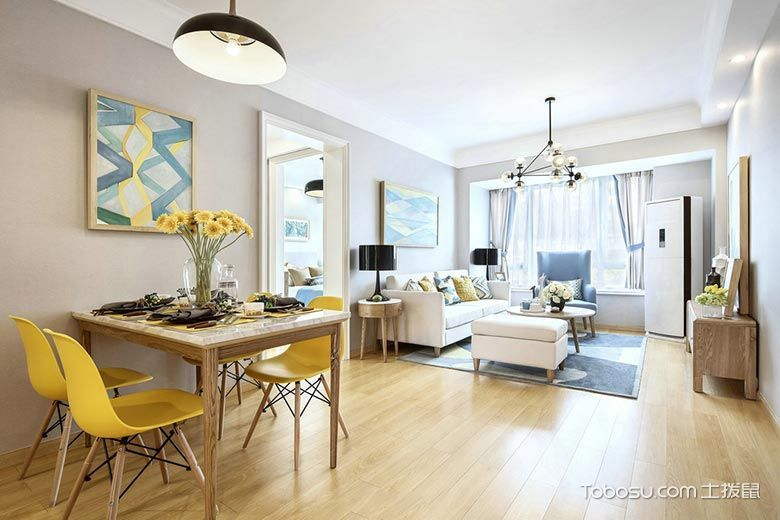 60平米公寓简约风格装修图