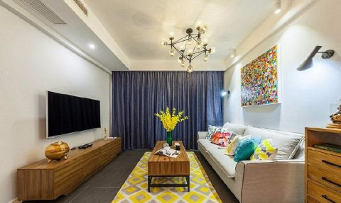 北欧风格三居室106平米室内装饰