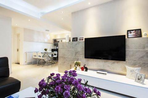休闲白色电视柜设计图欣赏