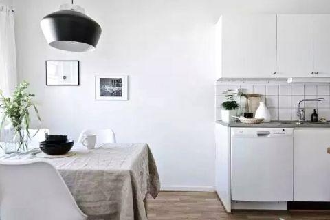 餐厅白色背景墙装修效果图欣赏