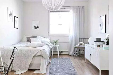 朴素温馨北欧白色背景墙装修方案