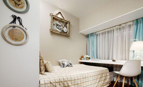 清新卧室窗帘效果图