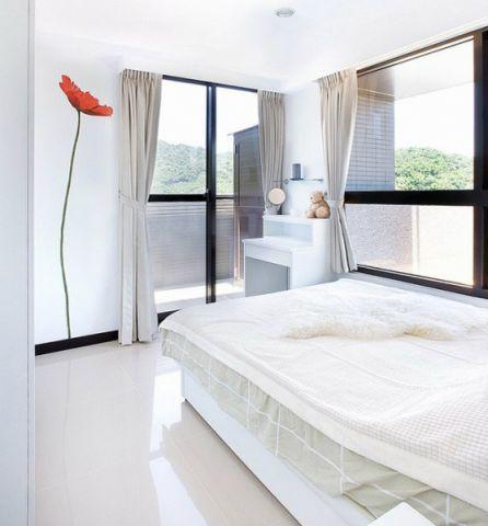 真实卧室窗帘平面图