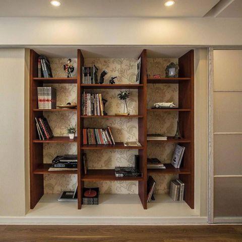 美式卧室书架平面图