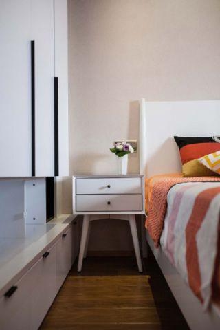 干净白色床头柜设计图欣赏
