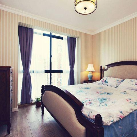 2019美式卧室装修设计图片 2019美式窗帘装修设计图片