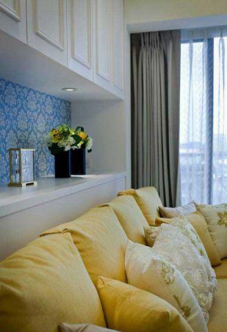 美式客厅沙发装修实景图