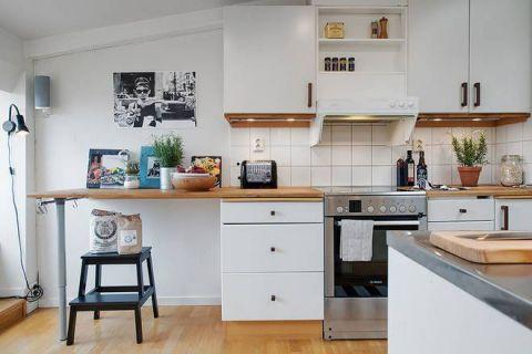 2019简约厨房装修图 2019简约吧台装修设计图片