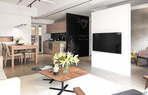 2019北欧客厅装修设计 2019北欧隔断图片