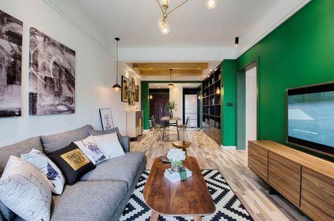 质朴客厅茶几装修设计图片