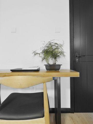 客厅书桌现代简约装修实景图
