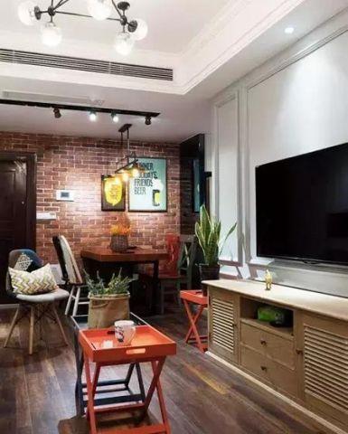 2019美式客厅装修设计 2019美式电视柜装修效果图片