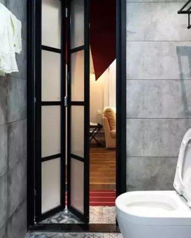2019美式卫生间装修图片 2019美式推拉门设计图片