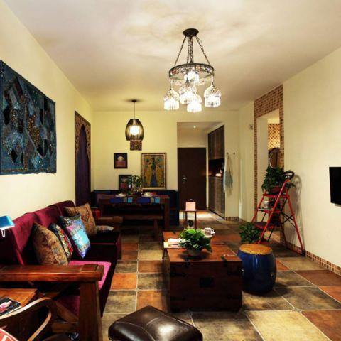 73平米公寓东南亚风格案例图