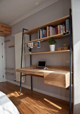 北欧卧室书桌装饰实景图片