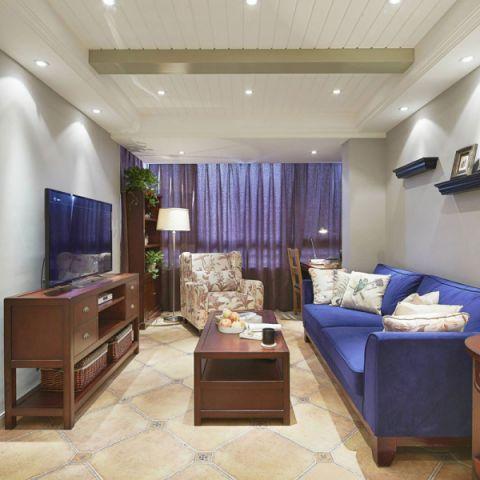 美式风格二居室78平米装饰效果图