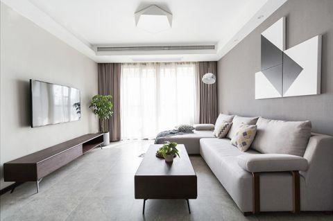 客廳窗簾現代裝飾圖