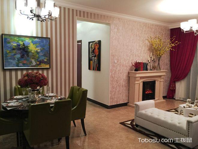 60平两居室摩登混搭风格装潢设计欣赏_装修图片