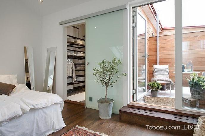 55平米简约舒适的顶楼复式公寓_装修图片