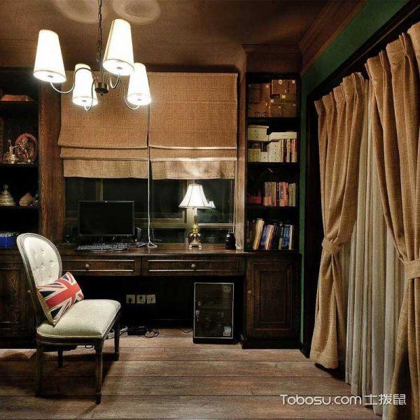 三居室104平米美式风格效果图
