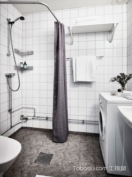 卫生间 地砖_简约风格公寓60平米装饰效果图