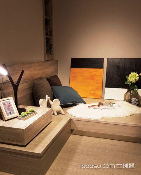 卧室 榻榻米_一居室60平米现代风格效果图图片