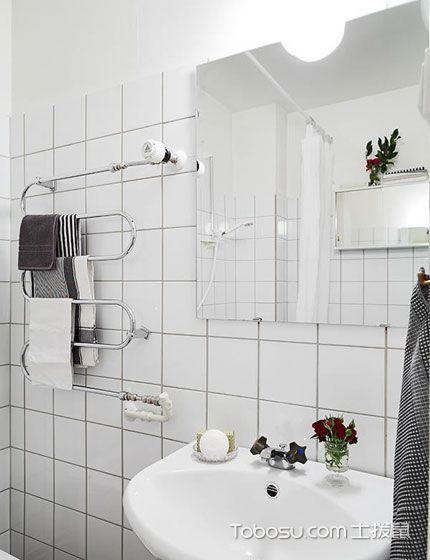卫生间 洗漱台_60平米公寓北欧风格装修实景图