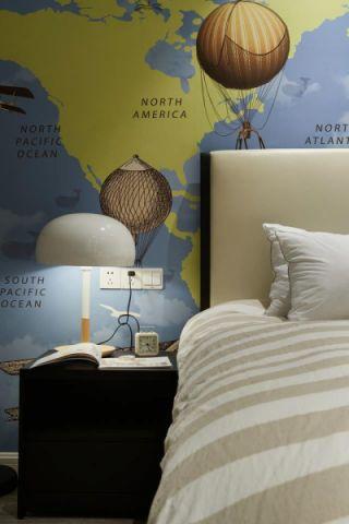 现代繁复卧室床头柜装潢图片