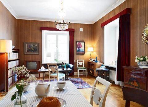 客厅灯具北欧装潢图