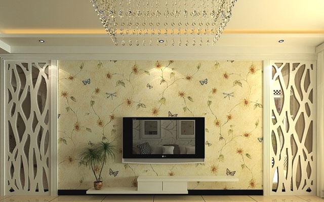 客厅壁纸搭配