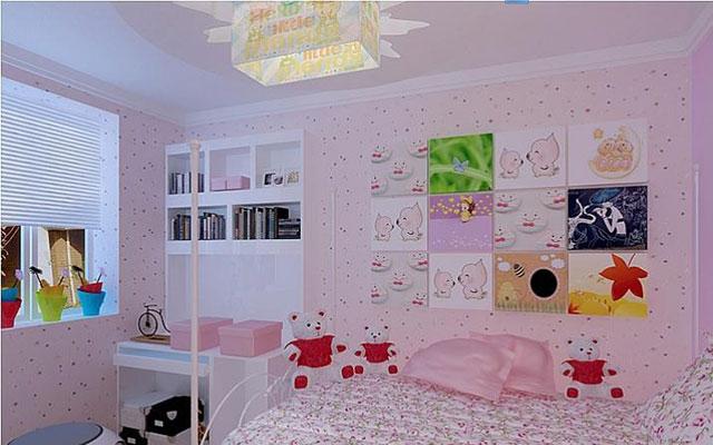 儿童房墙纸贴图