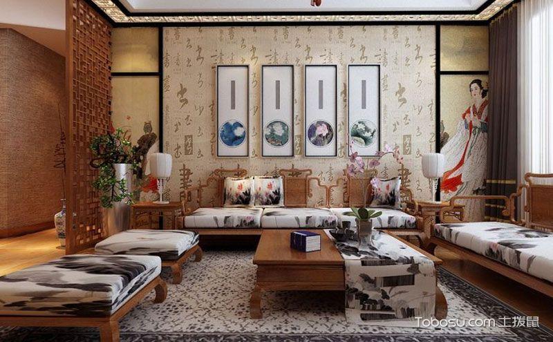 中式风格装修图,进出之间穿越千年