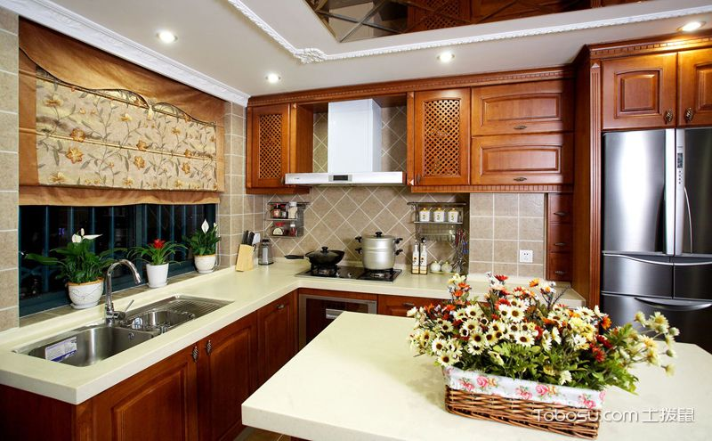 欧式厨房装修效果图,中看更中用