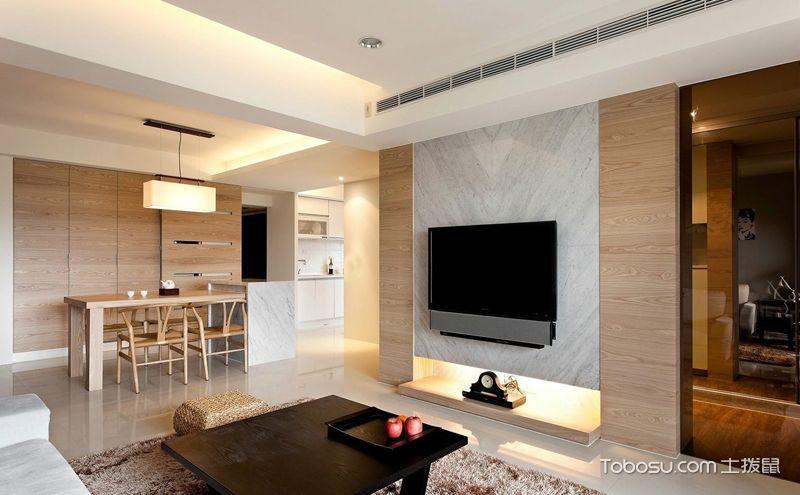 现代简约电视背景墙效果图,时尚生活点滴幸