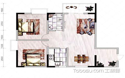 两居室户型图
