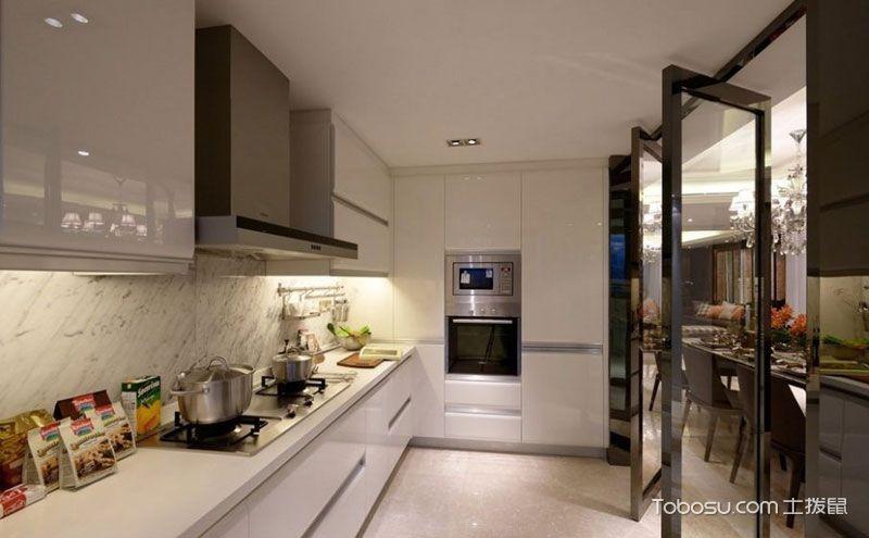 整体厨房效果图,美味生活拒绝浮夸