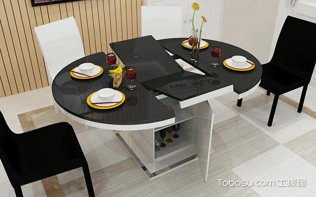折叠餐桌,小户型提高空间利用率的必备家具图片