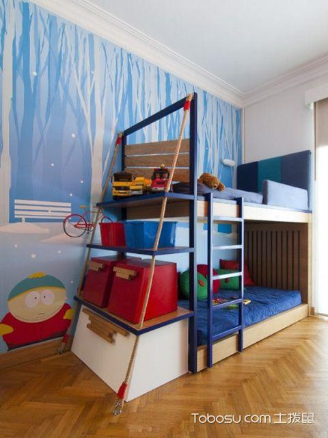 儿童房上下床效果图